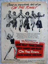 On the Town (1949) - Frank Sinatra | Gene Kelly | Vintage Trade Ad